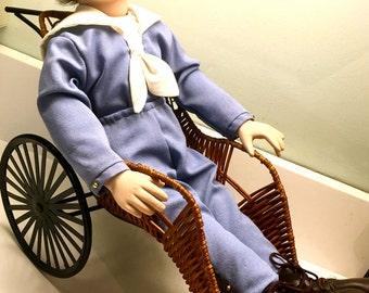 """Vintage Ashton-Drake 1995 """"Secret Garden"""" Colin Craven Doll in Bath Chair by Jill Kovacik, 16"""""""