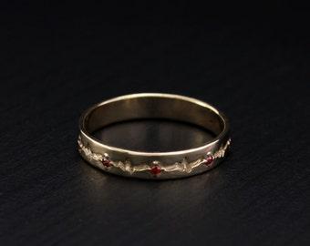 heartbeat wedding ring women wedding band women gold ring heartbeat wedding band - Wedding Ring For Women