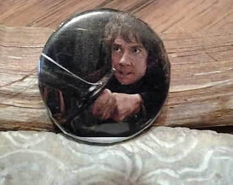 1 inch bilbo baggins pin//the hobbit//fantasy pins//pins//lotr