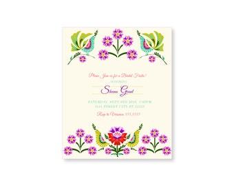 Mexican Bridal Party Invitation