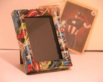 Captain America Comic Book Photo Frame