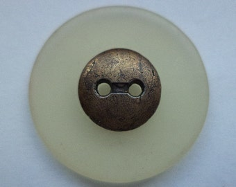 7 large buttons beige 26mm (6178) button