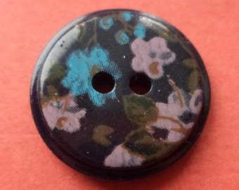 10 black buttons 16mm (5988) button flowers