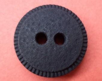 10 black buttons 17mm (1990) button
