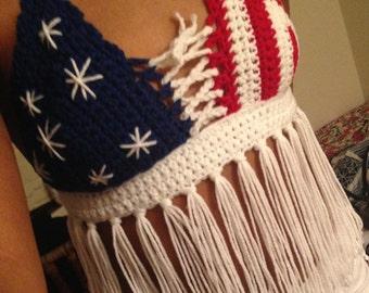 America Crochet Top