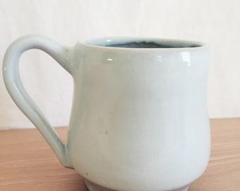 White Stoneware Mug - Light Inner Glaze