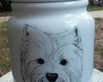 Vintage Yorkie Ceramic Cookie Jar/Dog Treat Jar