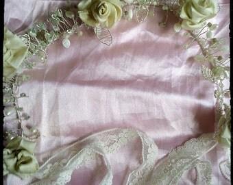 vintage rose hair vine