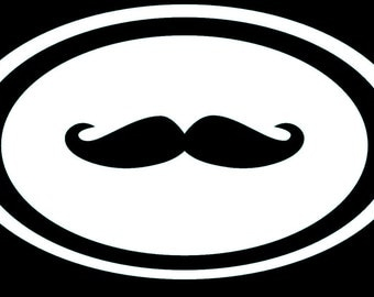 Oval Mustache Decal