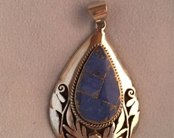 Blue Onyx Pendant