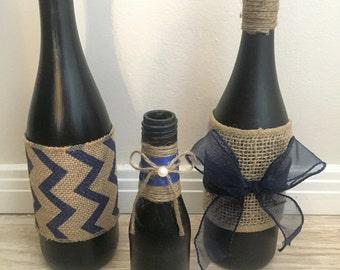 Black and Blue Bottles