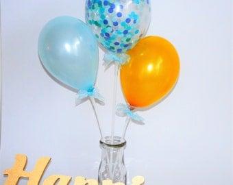 Blue Confetti Mini Balloon Kit - FREE POSTAGE