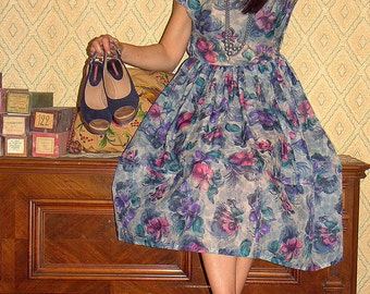 50s Summer Nylon Dress