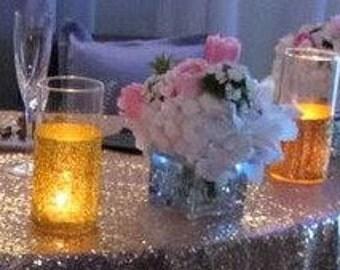 Hand Made Gold Glitter Contemporary cylinder vase/candleholder