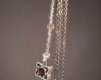 Crystal cell phone charm. iPhone, Android 3.5mm dust plug
