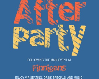 After Party Invitation Flyer