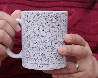 Tiny Cats Texture Ceramic Mug