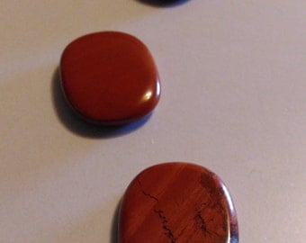 Red Jasper polished small worry stone, polished crystal thumb stone