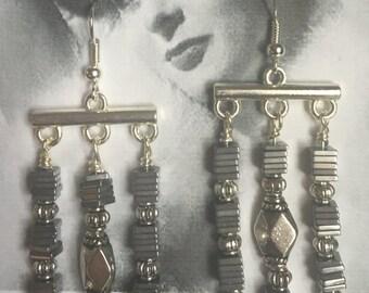 Silver Dangle Chandelier Earrings