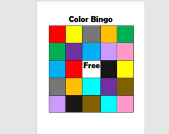 Color Bingo Game with Cards