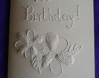 "Handmade Cards, sensory greeting cards-Series ""say it with dots"""