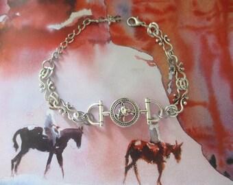 Horse bit bracelet, horse bracelet, horse jewelry