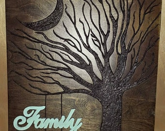Wood Wall Art - Family Tree