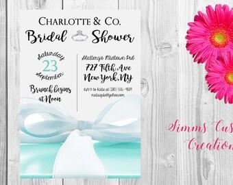 Tiffany Bridal Shower Invite ( Printable )