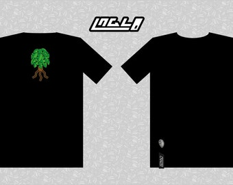 T-shirt black tree organic cotton (made in France)