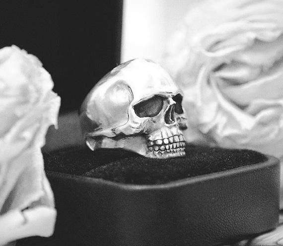 Johnny Cash Smiling Skull Ring