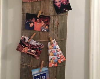 Rustic Wood Picture Hanger