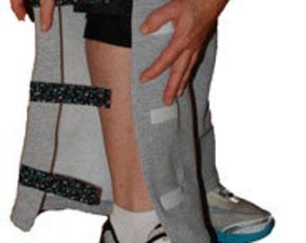 Grey Women's Pants | Over The Cast | Over Knee brace