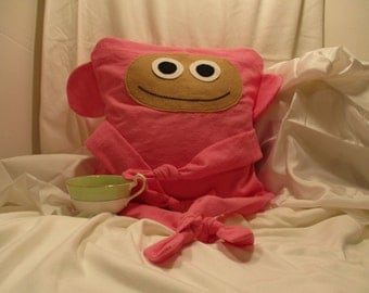 Pink Monkey Pillow Cover
