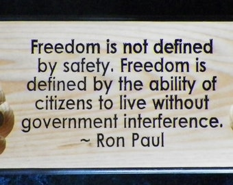 """Carved & Hand-Painted Sign Ron Paul Quote 24""""x7.25"""""""