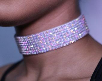 Ivory Crystal Choker Necklace