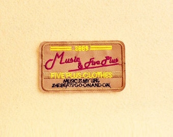 Music Patch - Iron on patch -Sew On patch - Embroidered Patch (Size 9.3cm x 5.5cm)