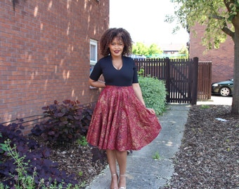 High Waisted Frilly Skirt