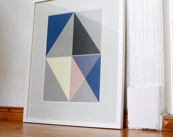 Trigonometry print incl. mat and frame