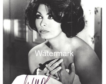 "Genuine SOPHIA LOREN Autographed B&W 8"" x 10"" Photo"" with COA"