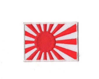 Japan Flag - Rising Sun Flag Embroidered iron on Patch