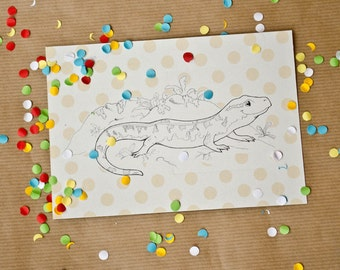 Last chance to see, Sardinia Mountain Newt, postcard, 300g