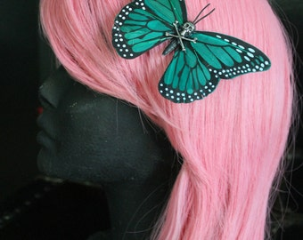 Deathskull Butterfly Hair Clip Fascinator
