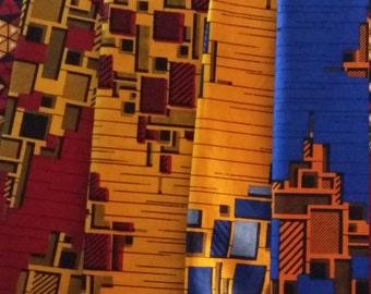 African Fabric, A THOUSAND BLOCK AFRICAN Fabric, Ankara Print, Multicolored Ankara, African Print, Ankara Fabric