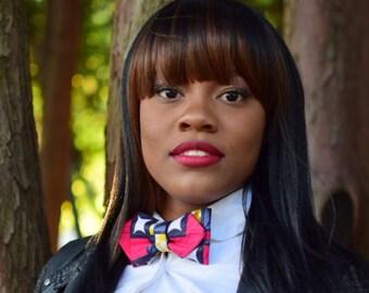 Women's Ankara African Print Bow tie- Clip-on bow tie