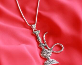 Designer Hookah Sterling Silver Pendant