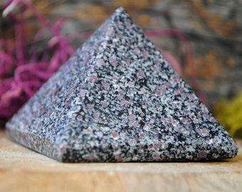 Ruby in Black Tourmaline Crystal Pyramid - 1198.701