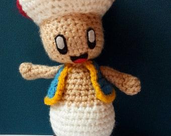 Toad Super Mario Crochet Plushie