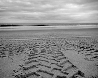 Making Tracks  //  Bribie Beach  //  Monochrome  //  Australia
