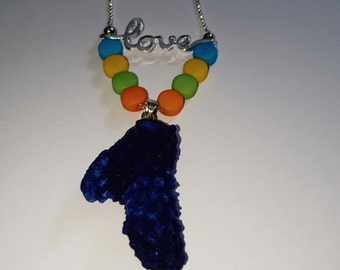 From coral with love necklace