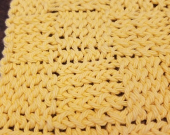Cheery Yellow Dishcloth